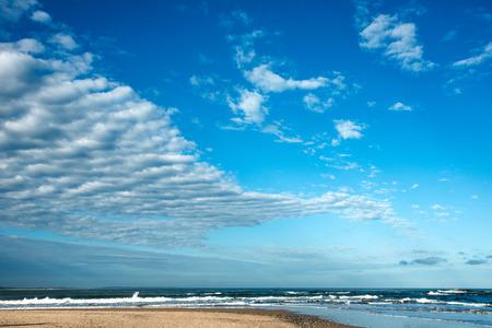 ignacio: Clouds over the famous beach  Jose Ignacio in Uruguay