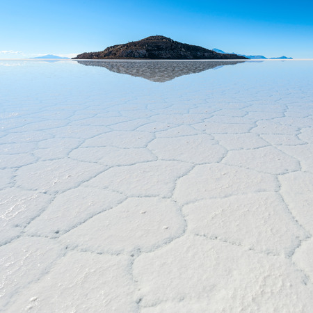 Salt lake - Salar de Uyuni in Bolivia  photo