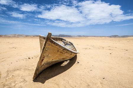 Boat in the desert, Paracas National Reserve, Ica Region, Peru