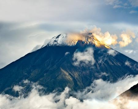 tungurahua: Eruption of a volcano Tungurahua, Cordillera Occidental of the Andes of central Ecuador, South America