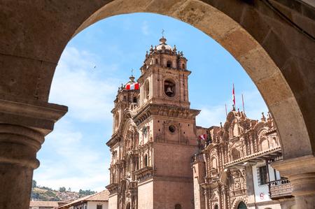 Stad van Cuzco in Peru, Zuid-Amerika Stockfoto