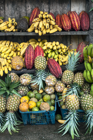 latin america: Latin America Fruit street market, Ecuador