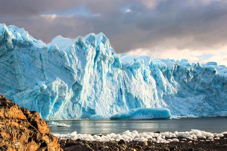 iceberg: Early morning on the glacier Perito Moreno, Argentina