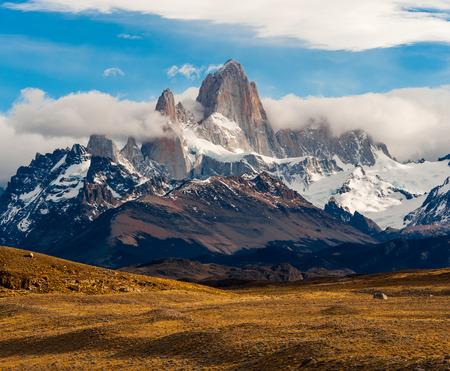 chalten: Fitz Roy Mountain, El Chalten, Patagonia, Glaciers National Park Argentina.
