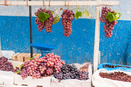 bunches: Bunches of grapes on the market