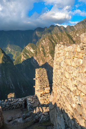 sacred valley: Guardhouse in Machu Picchu, Andes, Sacred Valley, Peru