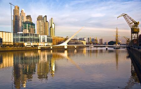 Puerto Madero, Buenos Aires, Argentina Standard-Bild
