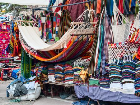 Famous Indian market in Otavalo, Imbabura, Ecuador, South America Banco de Imagens - 39980312