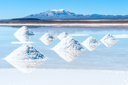 salt flat: Salt lake Uyuni in Bolivia