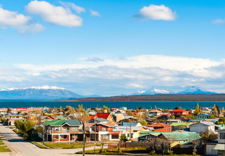 puerto natales: Puerto Natales in the Strait Of Magellan, Antarctic Patagonia, Chile