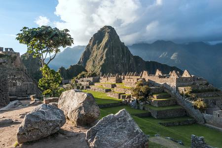 Machu Picchu, Andes, Sacred Valley, Peru Standard-Bild