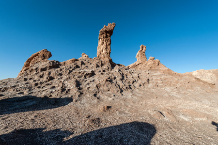 rock formation: Three Marys rock formation in Valley of the Moon (Valle de la Luna), Atacama Desert, Chile