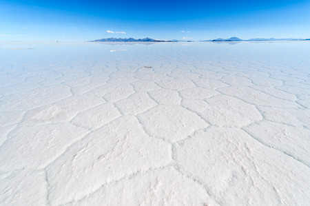 desierto: Salt lake Uyuni en Bolivia