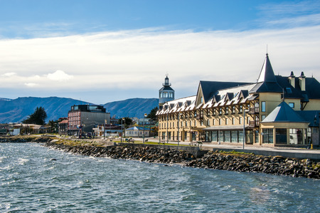 strait of magellan: Puerto Natales on the Strait Of Magellan, Patagonia, Chile