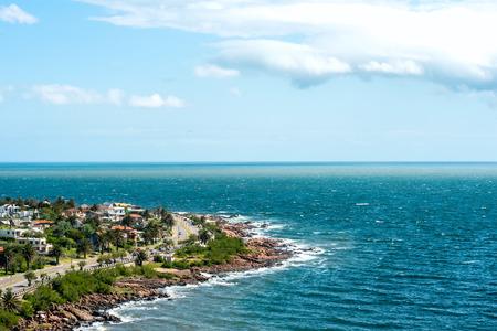 pecheur: La place de San Francisco Fisherman près de la ville de Piriapolis en Côte d'Uruguay
