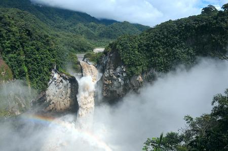 San Rafael Falls. The Largest Waterfall in Ecuador 스톡 콘텐츠