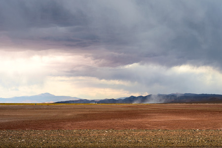 industry moody: Emergence of dust storms in the desert of Salinas Grandes, northern Argentina