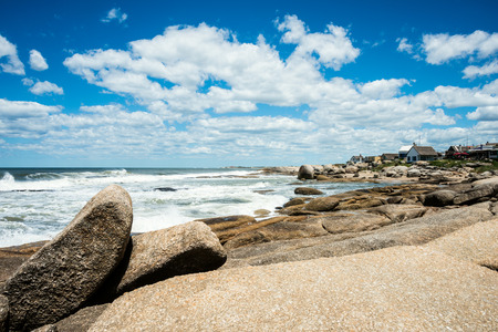 diablo: Punta del Diablo Beach, popular tourist and surfers place in Uruguay