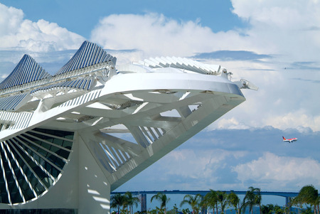 revitalization: Rio de Janeiro, Brazil, February 18, 2016 - Tomorrows Museum, designed by Spanish architect Santiago Calatrava, was inaugurated by Brazilian President Dilma Rousseff as part of a revitalization program for the Rio 2016 Olympic Games