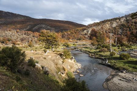 tierra del fuego: Autumn in Patagonia. Tierra del Fuego, Argentina side