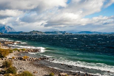 nahuel: Nahuel Huapi lake, Patagonia Argentina, near Bariloche Stock Photo