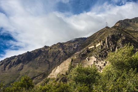 cusco region: Famous Ollantaytambo pre-Columbian Inca site in Cusco region, Peru Stock Photo