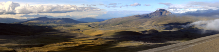 vulcanology: Andes. El Boliche Valley with a volcano Sincholagua near Cotopaxi
