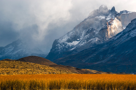 patagonian chile: The Torres del Paine National Park in the south of Chile is one of the most beautiful mountain ranges in the world