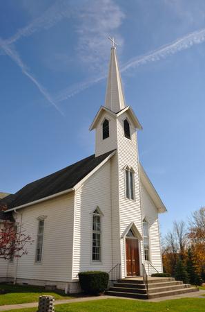 midwest: Rural Church, Midwest, Ohio, near Akron, USA