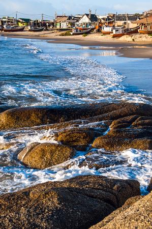 diablo: Punta del Diablo Beach, popular tourist site and Fishermans place in the Uruguay Coast