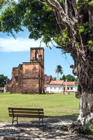 church ruins: Iconic views of Brazil: Matriz Church ruins in the historic city of Alcantara near Sao Luis, Maranhao State, Brazil