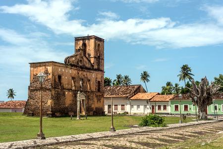 church ruins: iconic views of Brazil: Matriz Church ruins in the historic city of Alcantara near Sao Luis, Maranhao State, Brazil Stock Photo