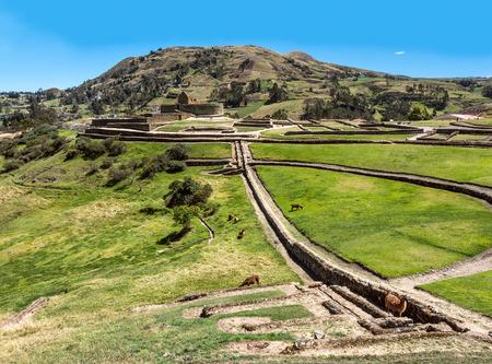 inca ruins: Ingapirca, Inca wall and town, largest known Inca ruins in Ecuador Stock Photo