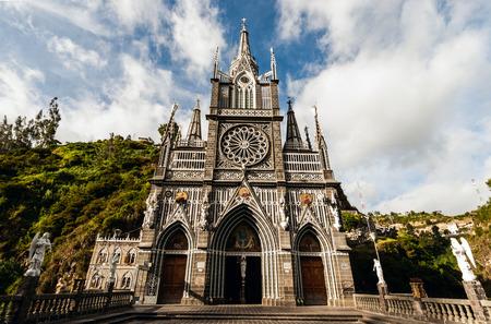 Sanctuary of Our Lady, Las Lajas, Colombia Reklamní fotografie