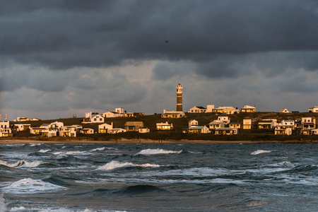 rocha: Lighthouse in Cabo Polonio, Rocha, Uruguay Stock Photo