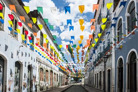 Historische Stadt von Sao Luis, Bundesstaat Maranhão, Brasilien Standard-Bild - 69217878