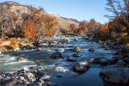 Fall in the Perito Moreno National Park, Patagonia, Argentina Standard-Bild