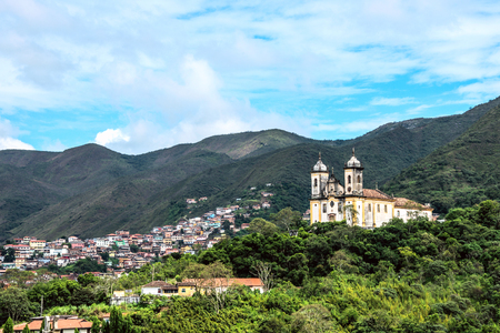 senhora: View of the unesco world heritage city of Ouro Preto in Minas Gerais, Brazil