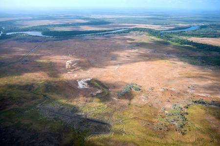 Aerial view of Lencois Maranhenses National Park, Brazil