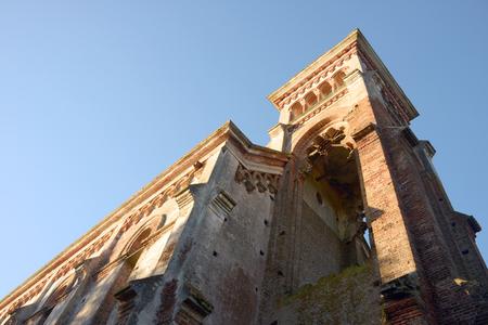 Ruins of a Iglesia de Piria, historic church in Piriapolis city, Maldonado province, Uruguay Standard-Bild