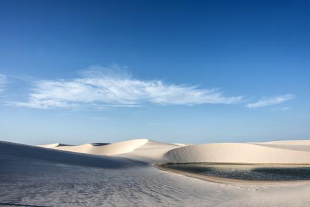 Lagoons in the desert of Lencois Maranhenses National Park, Brazil