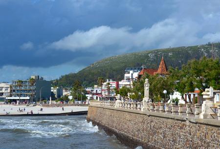 Piriapolis, Uruguay - November 24, 2012: Storm is coming to the resort town of Piriapolis in the Uruguay Coast, Maldonado province