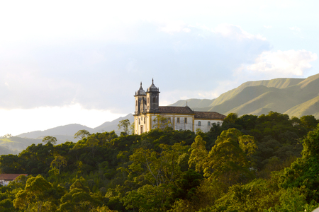 View of the  city of Ouro Preto in Minas Gerais, Brazil