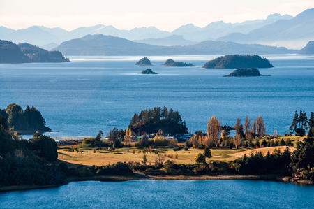 Nahuel Huapi lake, Patagonia Argentina, near Bariloche Stock Photo