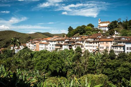 View of the city of Ouro Preto in Minas Gerais Brazil