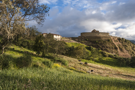 Ingapirca, Inca wall and town, largest known Inca ruins in Ecuador Standard-Bild