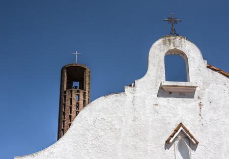 Famous church in Atlantida town, Uruguay