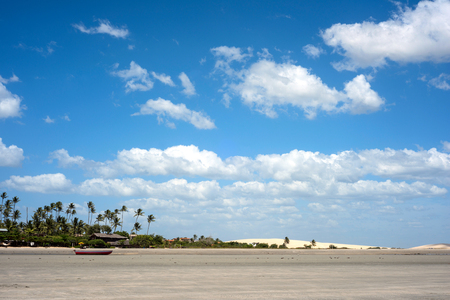 Famous Dunes and beach of Jericoacoara, Ceara state, Brazil