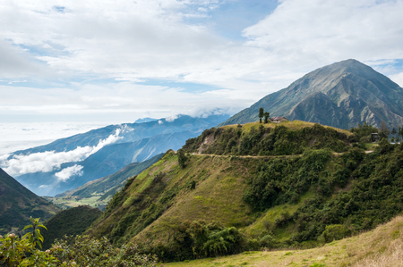 On the road through the Andes. The photo is taken near small town Alausi in Ecuador