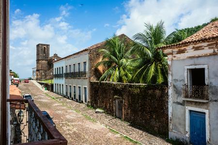 Alcantara, Sao Luis, Maranhao State, Brazil - July 11, 2016: Matriz Church ruins in the historic city of Alcantara near Sao Luis Editorial